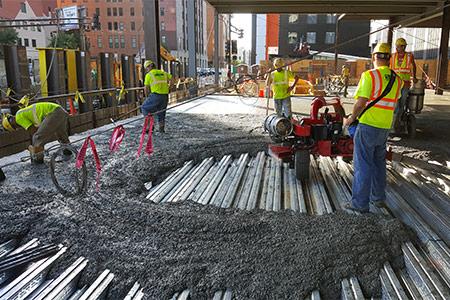 using tephralite for concrete paving