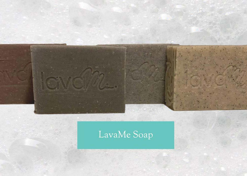 soap made of lava rock for beauty products