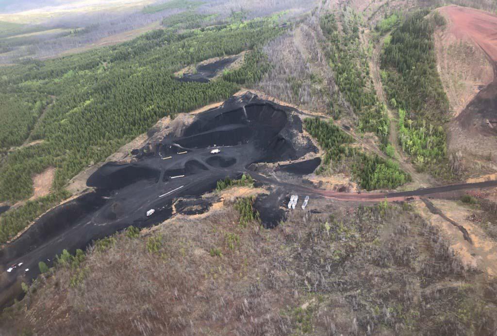 Black Lava Volcano Mine Site
